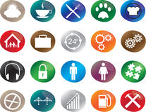 Social icons Stock Images