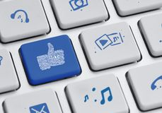 Social icons keyboard Stock Photography
