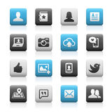 Social Icons, Matte Series Stock Images
