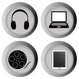 Social icons. Social media icons on white background Royalty Free Stock Image