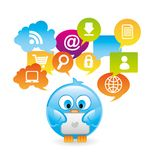 Social icons Stock Photography