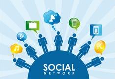 Social icons Royalty Free Stock Photo