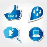 Social icons Stock Photos