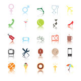 Social icons. People interests. Stock Images