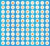 Social icons round set Stock Image