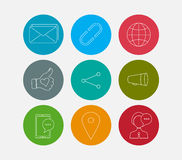 Social icons set Stock Photography
