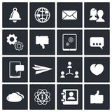 Social icons set Royalty Free Stock Images