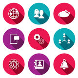 Social icons set Stock Images