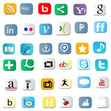 Social icons Royalty Free Stock Photos