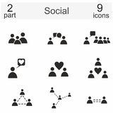 Social icons. Various Social icons over the white background Stock Images