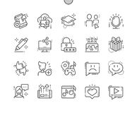 Social Icons Well-crafted Pixel Perfect Vector Thin Line Icons 30 2x Grid for Web Graphics and Apps. Simple Minimal Pictogram Stock Photography
