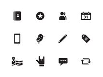 Social icons on white background. Vector illustration Royalty Free Stock Photography