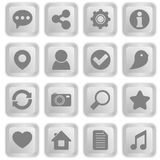 Social icons on white keyboard buttons Royalty Free Stock Photos