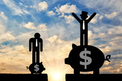 Social inequality and capitalism Stock Image