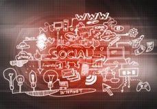Social interaction ideas Stock Image
