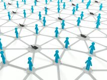 Social internet connection concept, 3d network Stock Photos