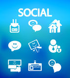 Social internet vector icons Stock Photography