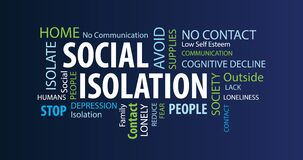 Free Social Isolation Word Cloud Stock Photography - 179148052