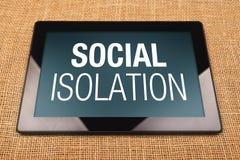 Social isolering Arkivbilder