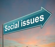 Social issues concept. Royalty Free Stock Image