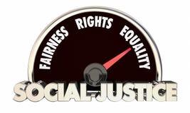 Social Justice Levels Equality Fairness Civil Rights 3d Illustration royalty free illustration