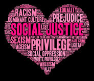 Social Justice Word Cloud Stock Image