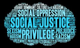 Social Justice Word Cloud Royalty Free Stock Photo