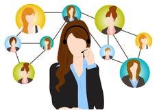 Social kommunikation Arkivbild