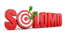 Social local mobile - solomo Stock Image