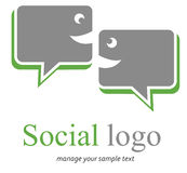 Social Logo. Isolated chat box signs logo and symbols for design Royalty Free Stock Image