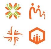 Social logo Royaltyfri Fotografi