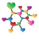 Social love3. Heart color icon Social Netowork for desing Royalty Free Stock Photo