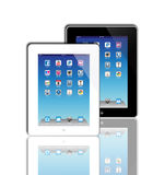 Social Madia apps on a Apple iPad 2 Stock Images