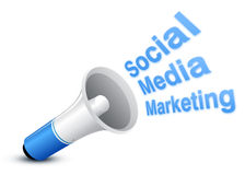 Social Marketing. Social Media marketing concept with White background stock illustration