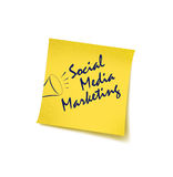Social Marketing. Social Media marketing concept with post it vector illustration