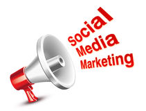 Social Marketing. Social Media marketing concept with White background Stock Photo