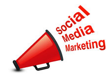 Social Marketing. Social Media marketing concept with White background Royalty Free Stock Photography