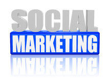 Social marketing Stock Image
