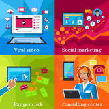 Social Marketing, Consulting Center Concept Royalty Free Stock Photo