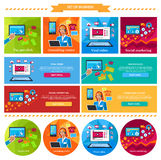 Social Marketing, Consulting Center Concept stock illustration
