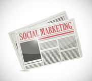 Social marketing newspaper illustration design Stock Photography