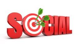 Social marketing target Stock Image