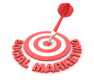 Social Marketing Target Stock Images