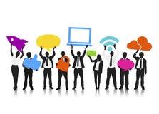 Social massmediaaffär Team Teamwork Occupation Concept Royaltyfri Fotografi