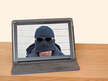 Social massmediaanslutning för oidentifierad internet arkivbild