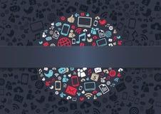 Social massmediabakgrund Arkivfoton