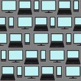 Social massmediabakgrund Sömlös modell av symbolsgrejer Arkivfoto