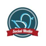 Social massmediafågel Arkivfoto
