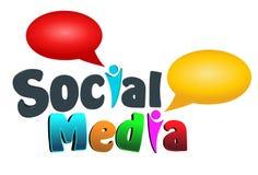 Social massmediasymbol royaltyfri illustrationer