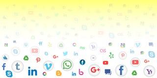 Social massmediasymbolsbakgrund för tapet Royaltyfri Bild